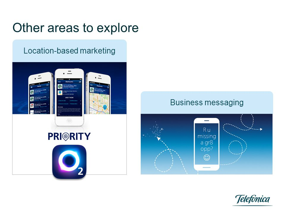 Other areas to explore Business messaging Location-based marketing