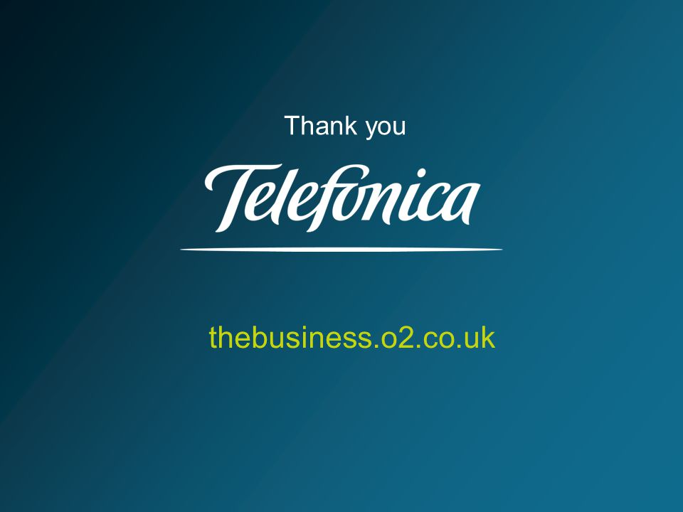 thebusiness.o2.co.uk Thank you