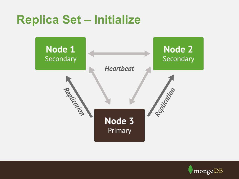 Replica Set – Initialize