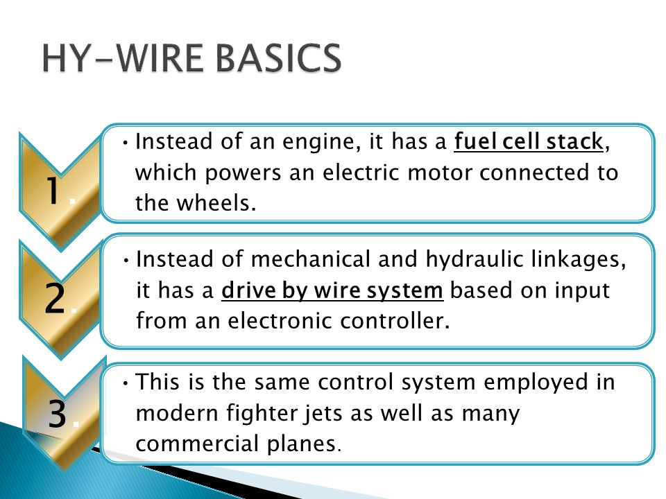  A computer actually operates the components that move the wheels, activate the brakes and so on, based on input from an electronic controller.