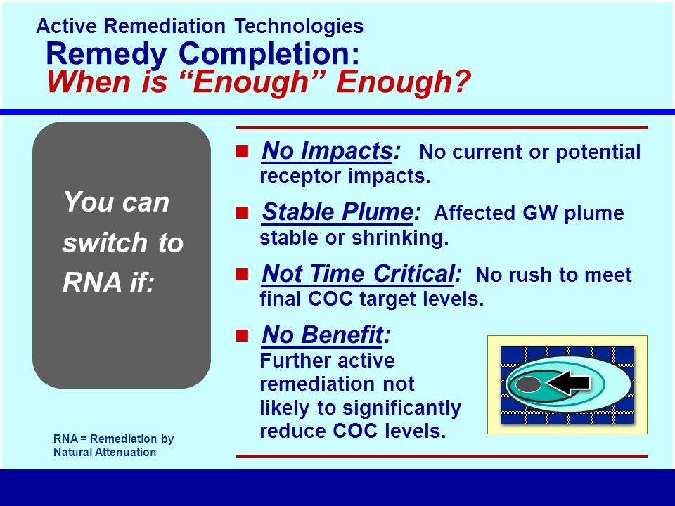 You can switch to RNA if: Remedy Completion: When is Enough Enough.