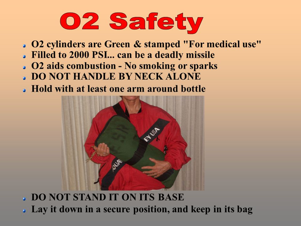 O2 cylinders are Green & stamped