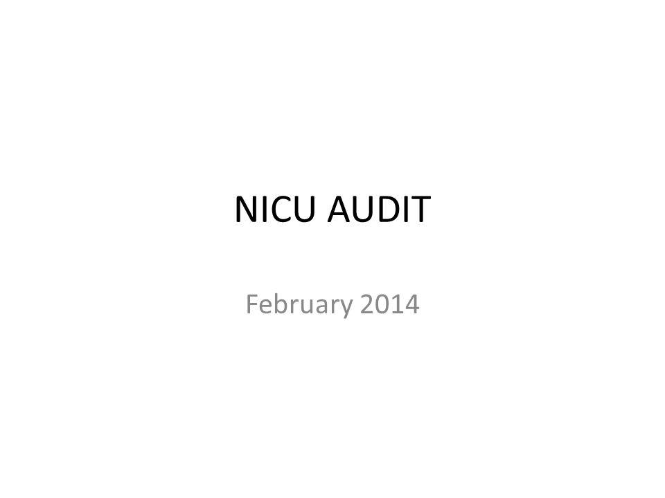 NICU AUDIT February 2014