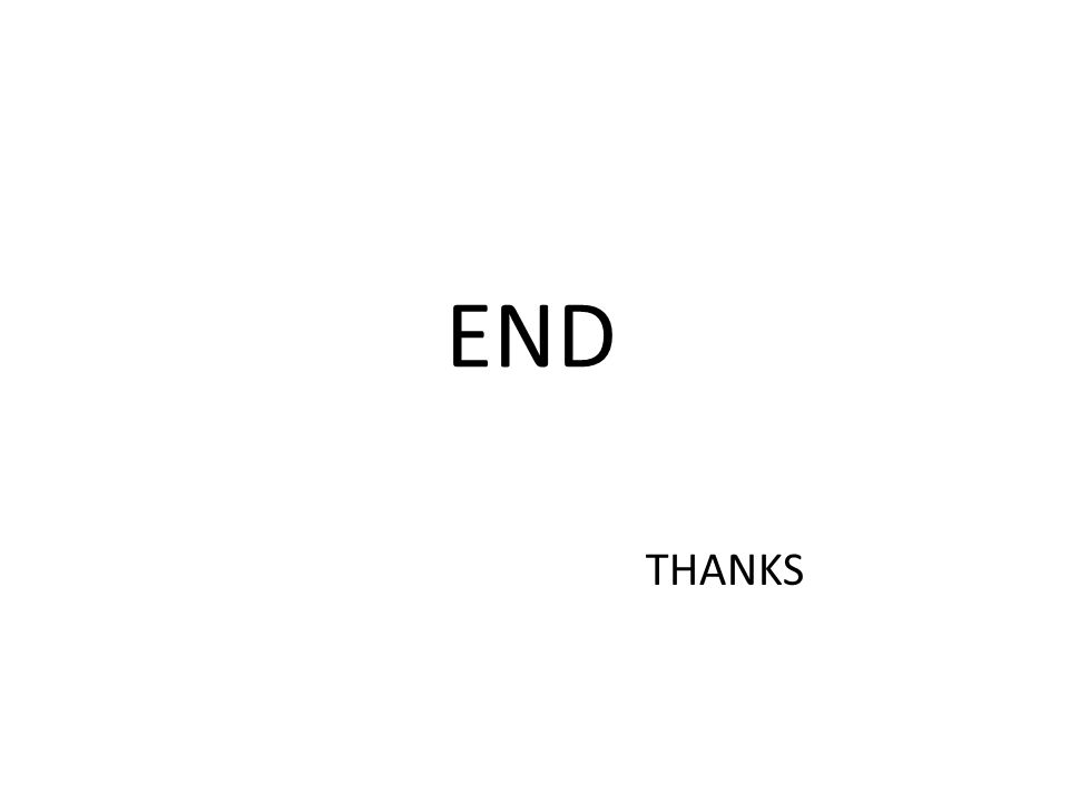 END THANKS