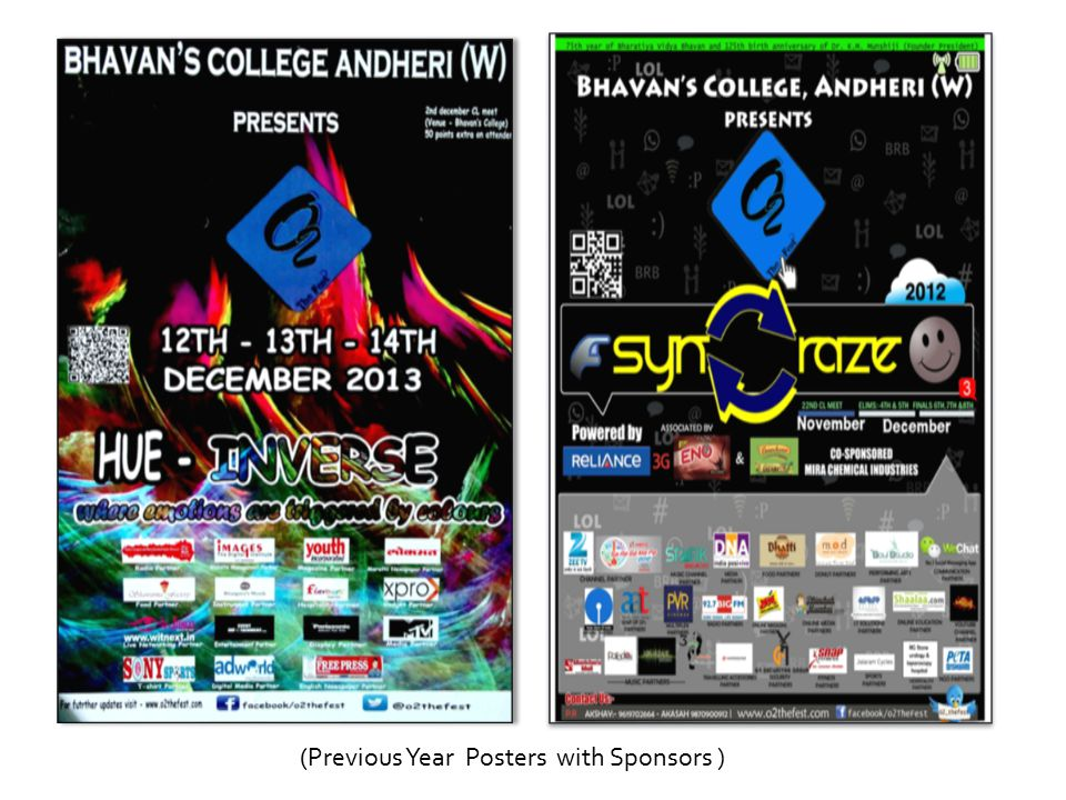 (Previous Year Posters with Sponsors )