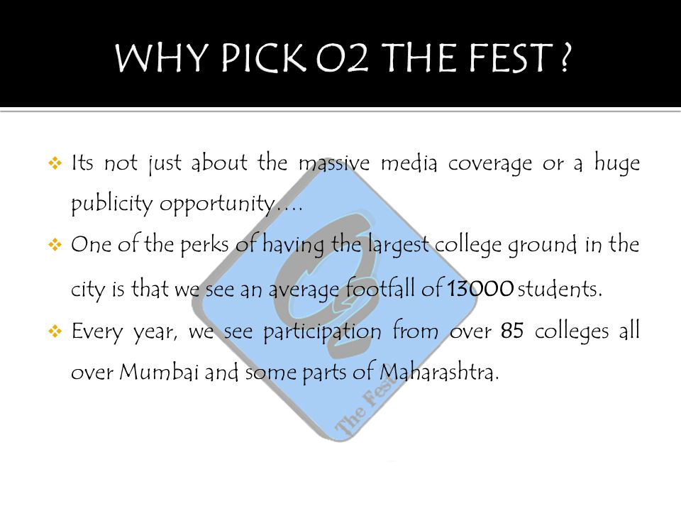  Its not just about the massive media coverage or a huge publicity opportunity….  One of the perks of having the largest college ground in the city