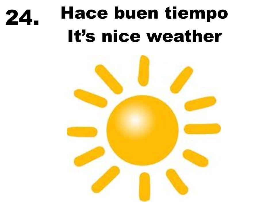 24. Hace buen tiempo It's nice weather