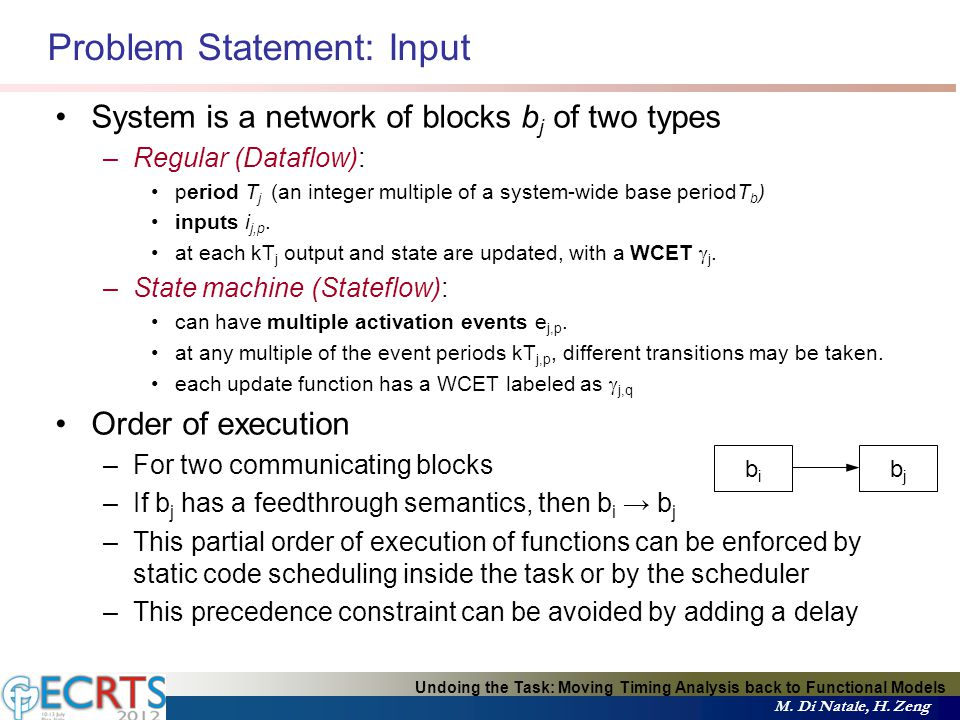 Problem Statement: Input Undoing the Task: Moving Timing Analysis back to Functional Models M.