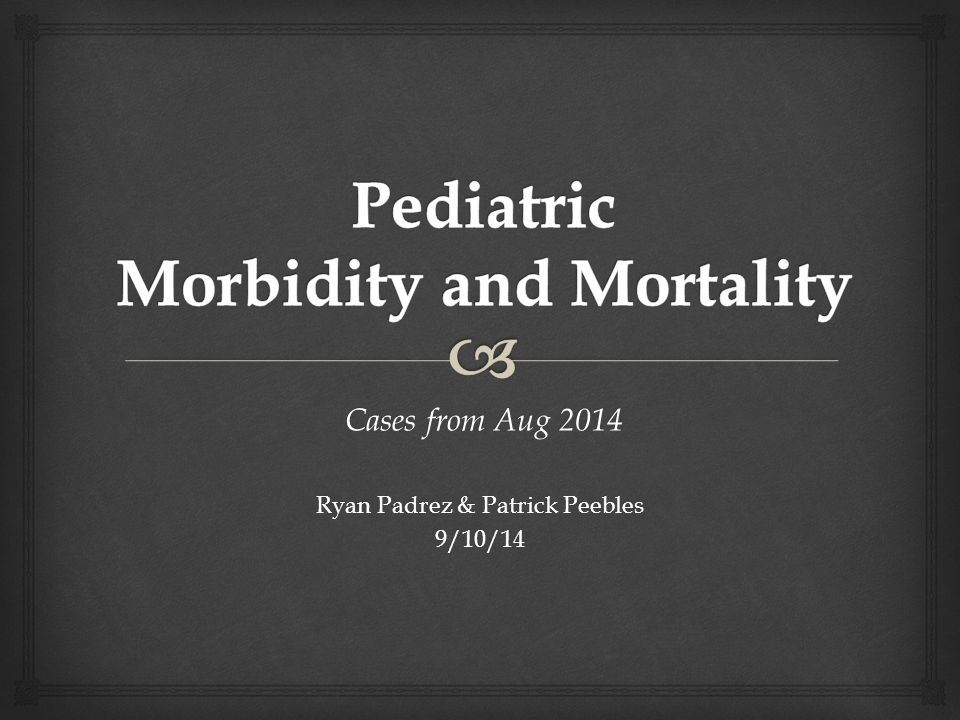 Cases from Aug 2014 Cases from Aug 2014 Ryan Padrez & Patrick Peebles 9/10/14