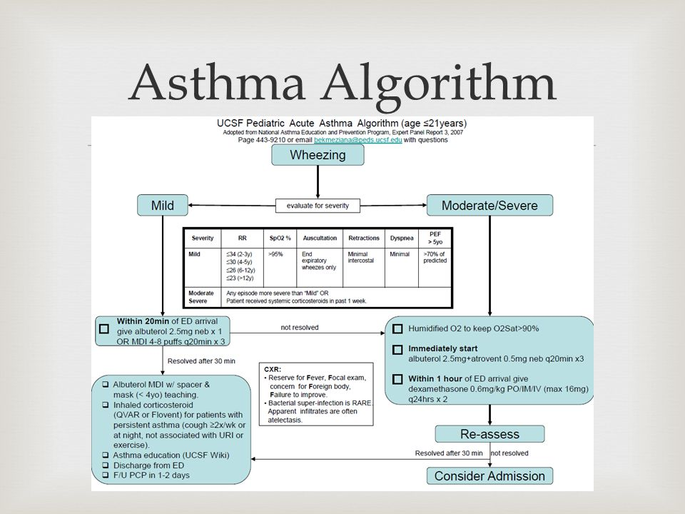  Asthma Algorithm