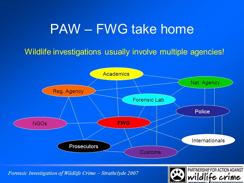 Forensic Investigation of Wildlife Crime – Strathclyde 2007 PAW – FWG take home Nat.