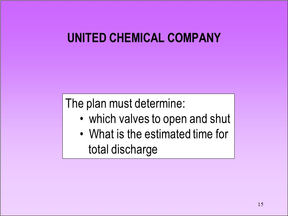 14 United Chemical produces pesticides and lawn care products.