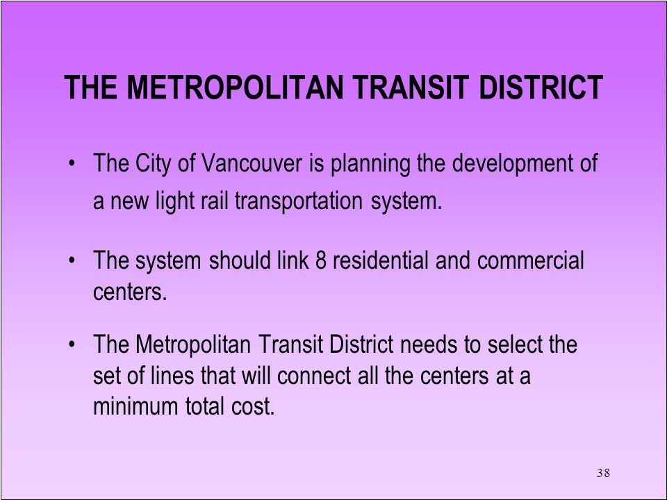 37 THE METROPOLITAN TRANSIT DISTRICT