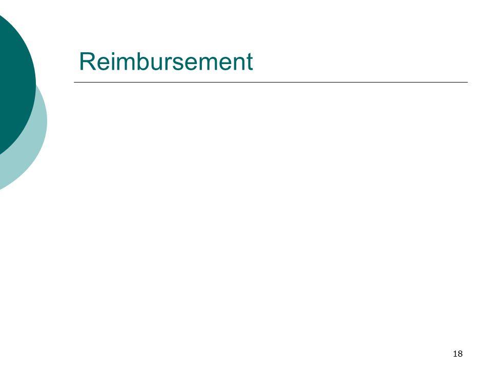 18 Reimbursement