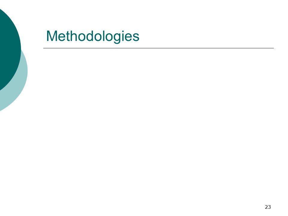 23 Methodologies