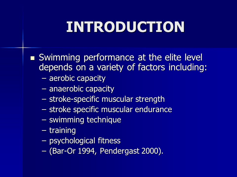 DISCUSSION Speculate: Speculate: - the swimmer with the more efficient stroke will use less energy to swim at a given velocity.