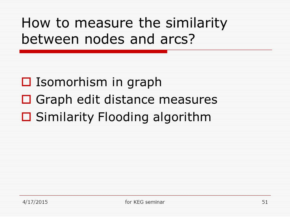4/17/2015for KEG seminar51 How to measure the similarity between nodes and arcs.