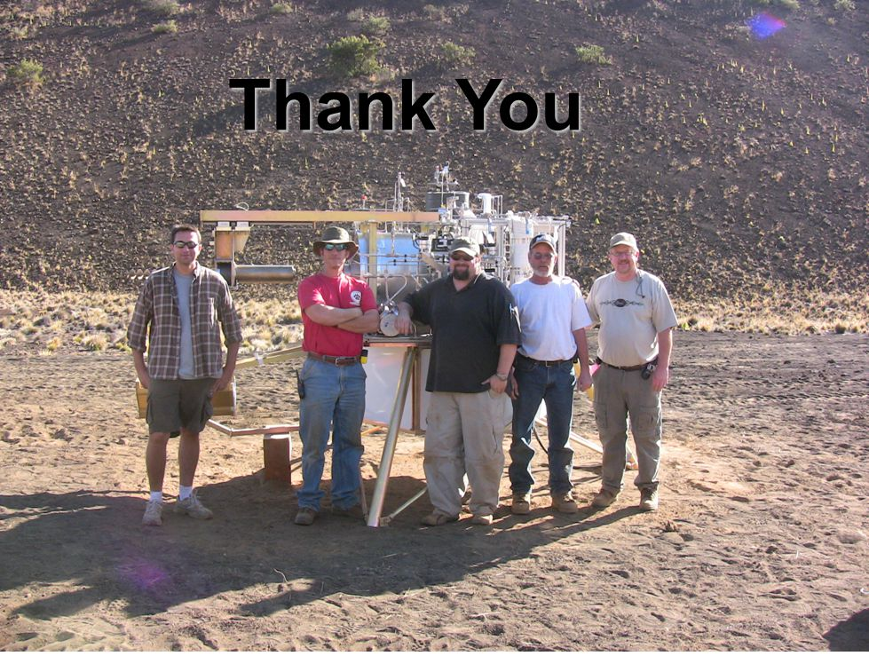 13 Precursor In-situ Lunar Oxygen Testbed - PILOT PISCES 2008 Thank You