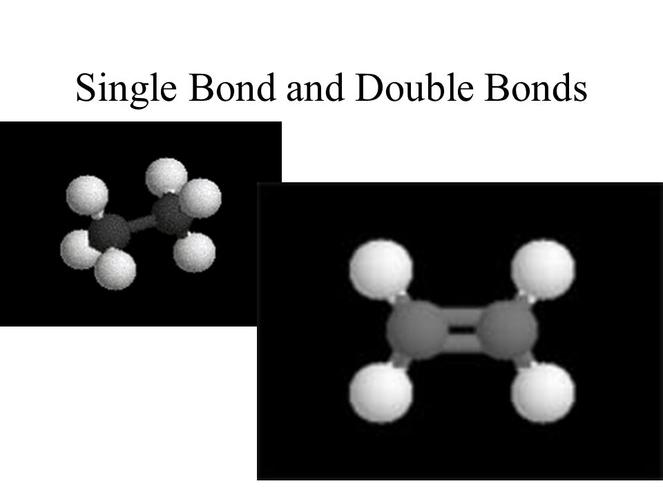 Single Bond and Double Bonds