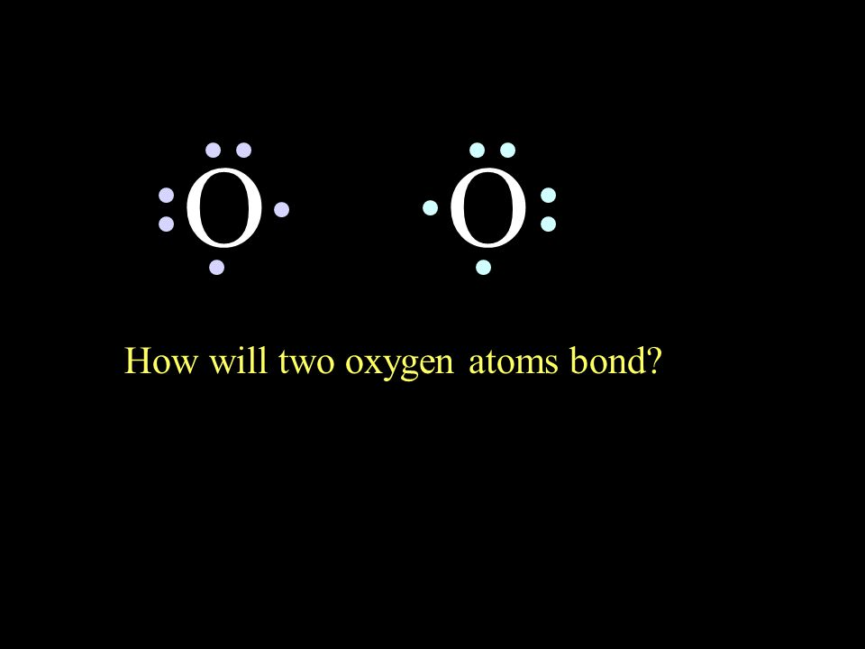 How will two oxygen atoms bond? OO