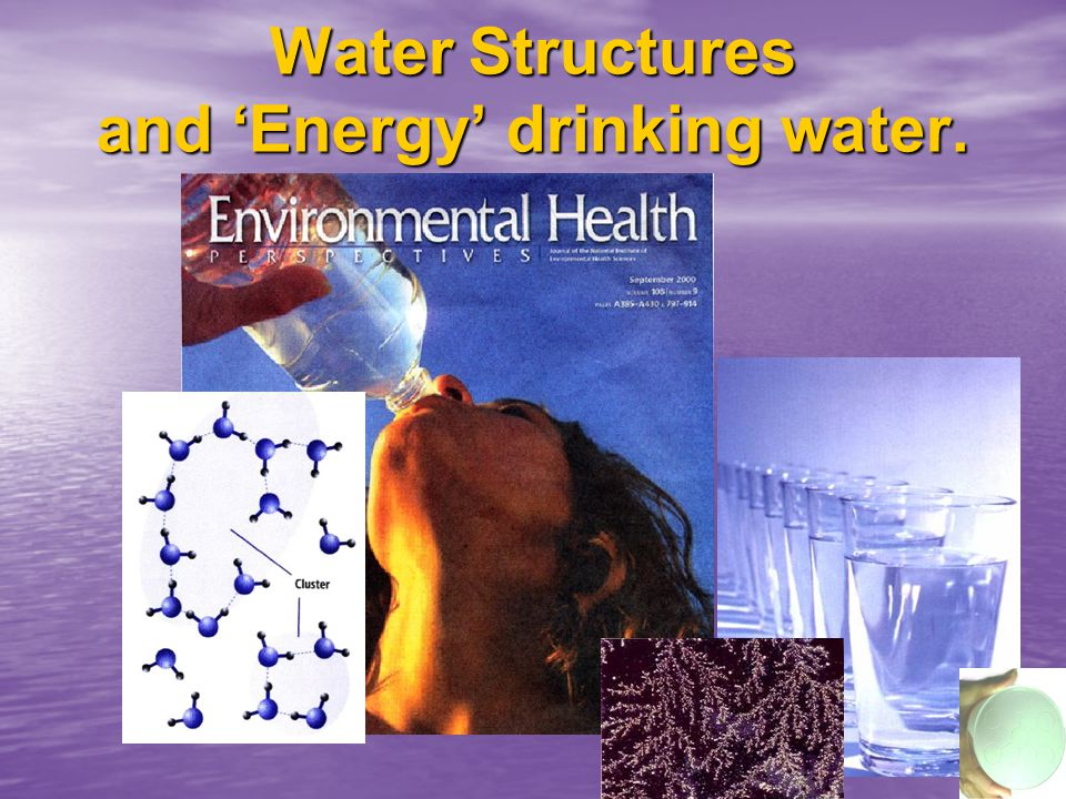 Electro-Smog in water. Indavidual molecules act like an electric dipole Earth this effect with