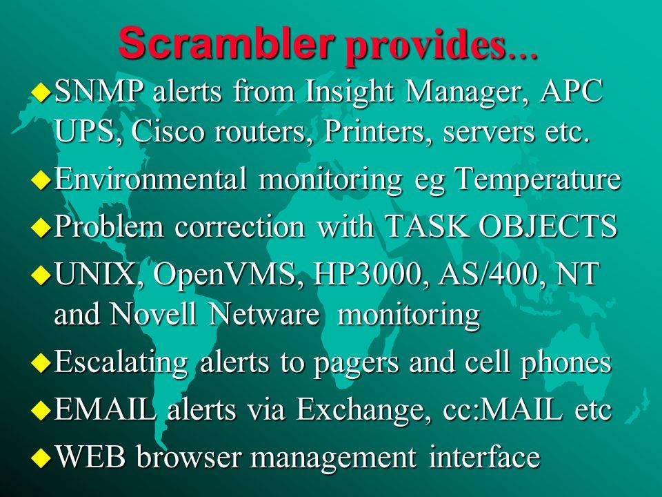 Scrambler provides...