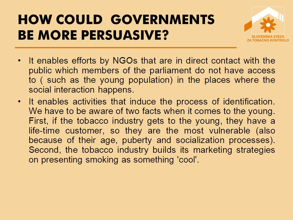 HOW COULD GOVERNMENTS BE MORE PERSUASIVE.
