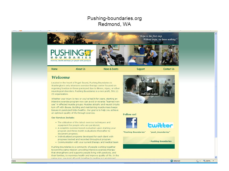 Pushing-boundaries.org Redmond, WA