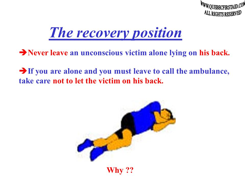 The intervention protocol  The primary exam: The state of consciousness  Talk to the victim to see if it is « Alert ».
