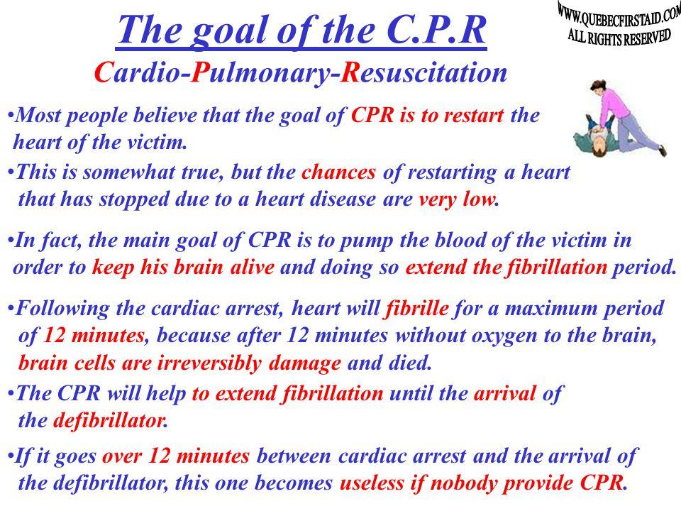 C P R technique CPRCPR ardio ulmonary esuscitation Adult technique, applies at the age of 8 +