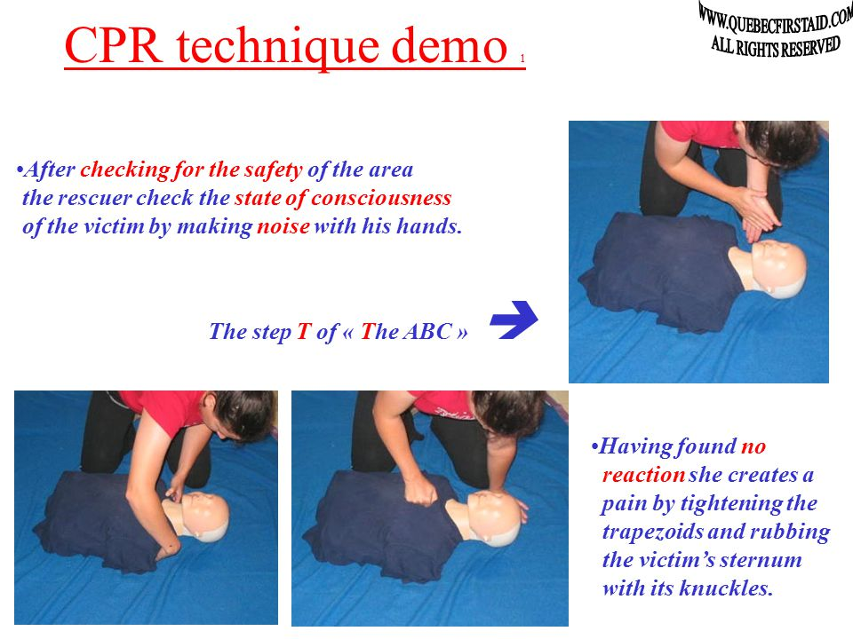 Adult CPR demo On the mannequins