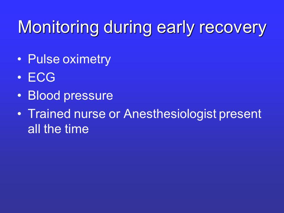 Criteria for discharge from PACU Aldrete scoring system –Activity –Respiration –Circulation –Consciousness –O2 Saturation