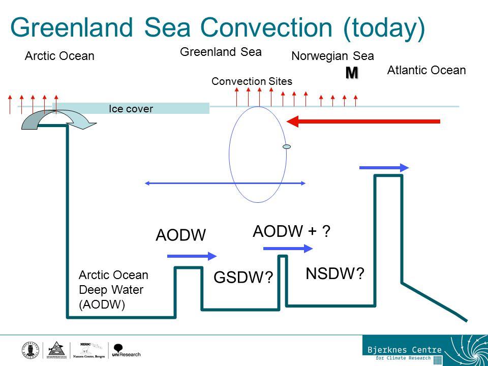 Greenland Sea Convection (today) Ice cover Arctic Ocean Greenland Sea Norwegian Sea Atlantic Ocean Convection Sites Arctic Ocean Deep Water (AODW) AOD