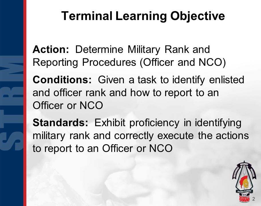 13 Reporting Procedures Outdoors Center yourself two, 30 steps away from Officer/NCO.
