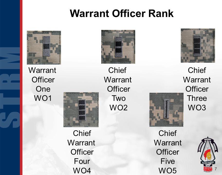 8 Officer Rank Second Lieutenant (2LT) O1 First Lieutenant (1LT) O2 Captain (CPT) O3