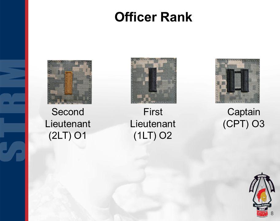 9 Officer Rank Continued Major (MAJ) O4 Lieutenant Colonel (LTC) O5 Colonel (COL) O6