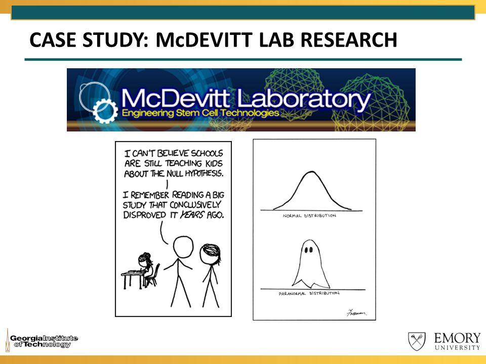 CASE STUDY: McDEVITT LAB RESEARCH