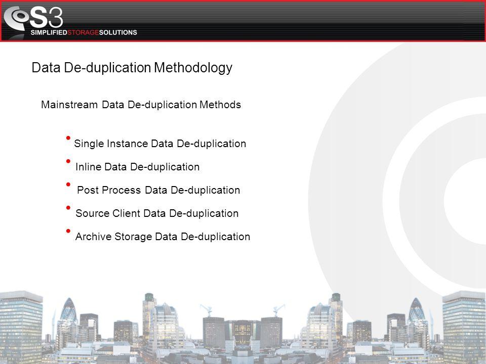 S3 Data De-duplication Technology Partners