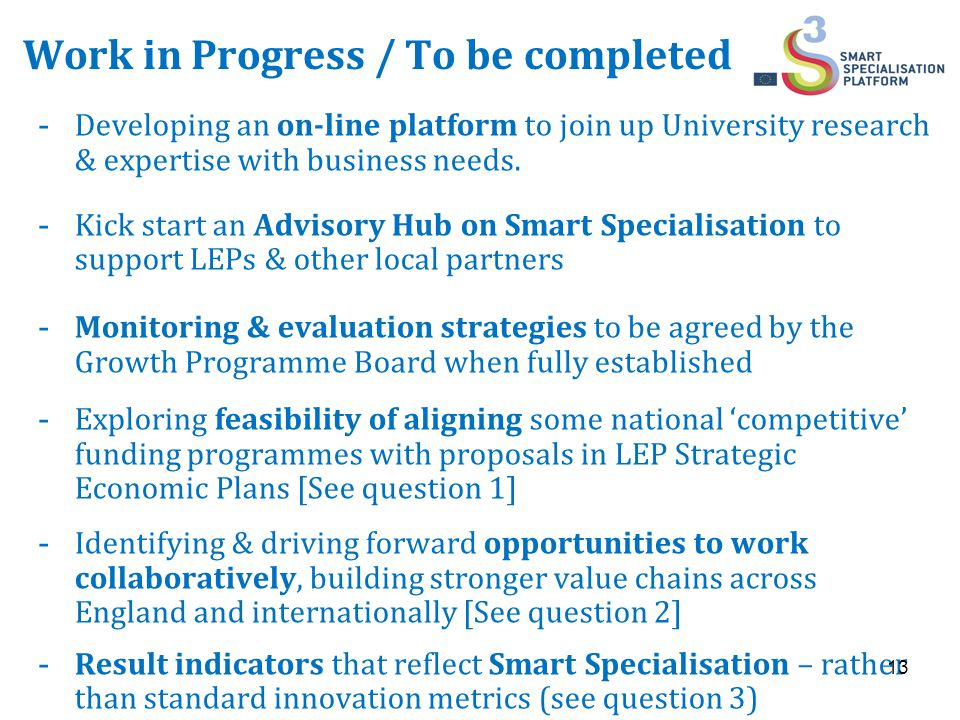 Work in Progress / To be completed -Developing an on-line platform to join up University research & expertise with business needs.