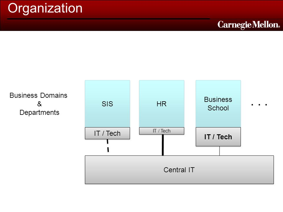 Organization Central IT SIS Business Domains & Departments HR Business School Business School...