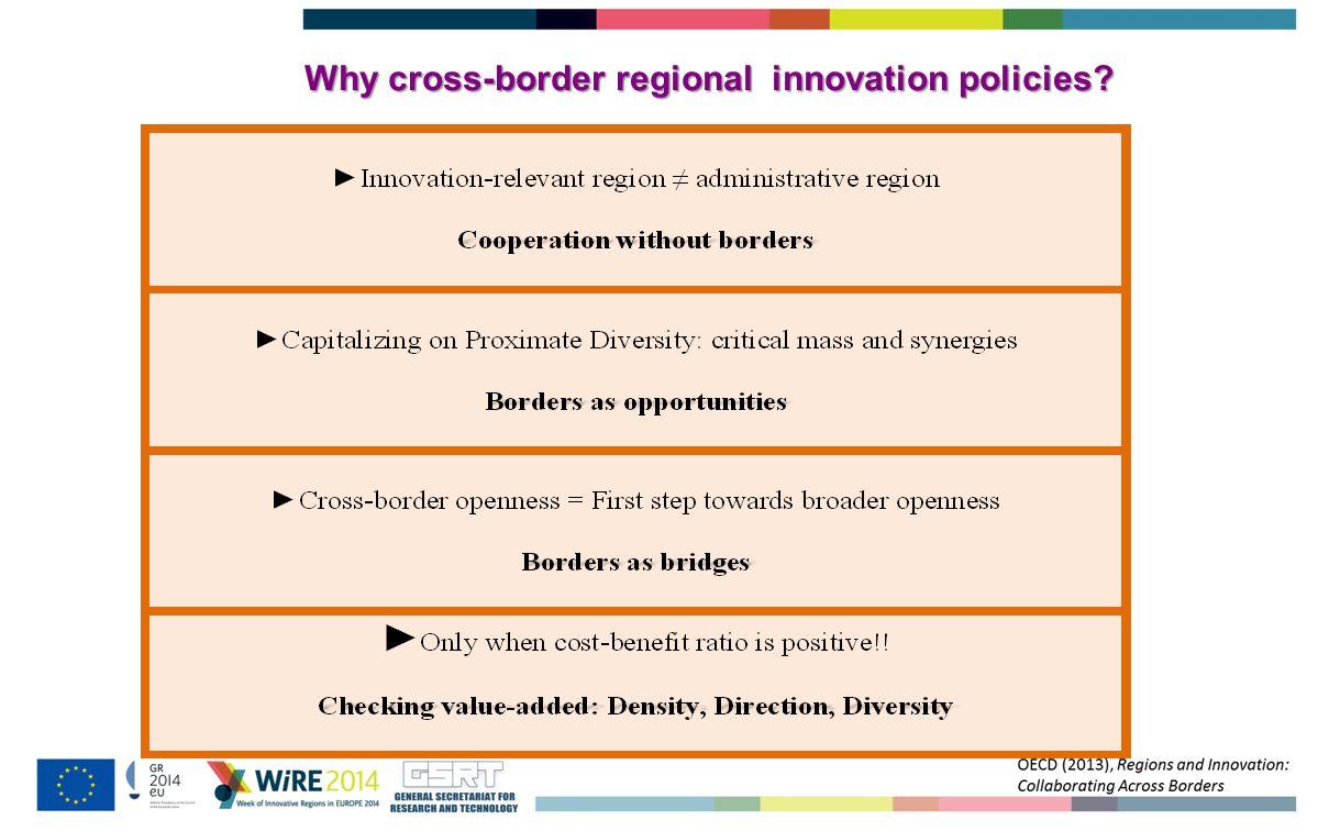 Where to apply cross-border regional innovation policies?