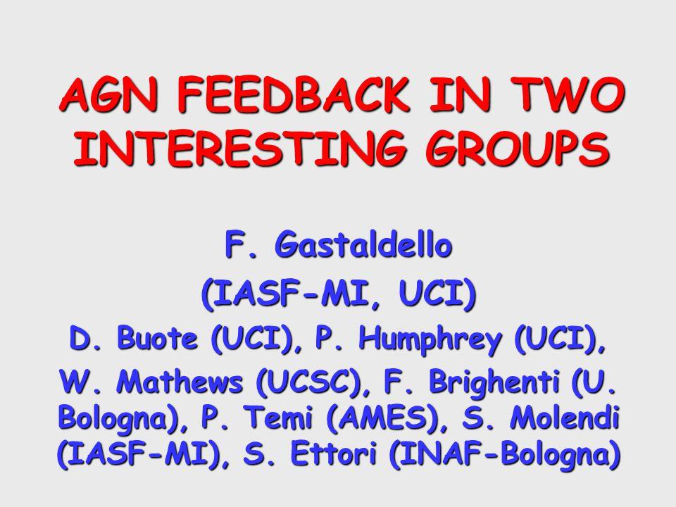 AGN FEEDBACK IN TWO INTERESTING GROUPS F. Gastaldello (IASF-MI, UCI) D.