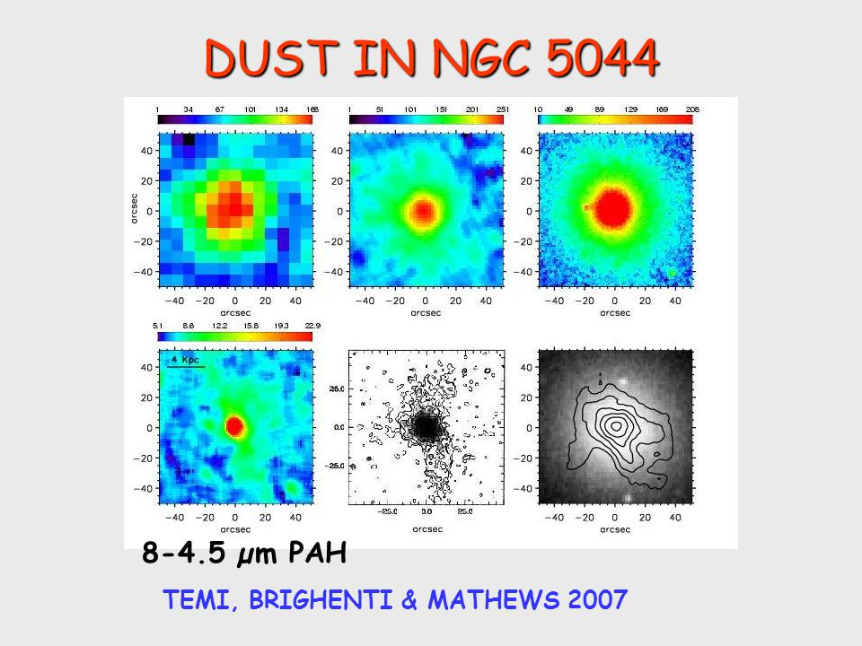 DUST IN NGC 5044 TEMI, BRIGHENTI & MATHEWS 2007 8-4.5 µm PAH