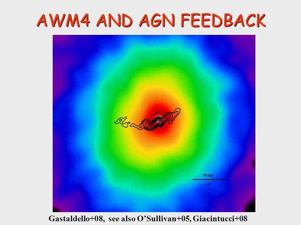 AWM4 AND AGN FEEDBACK Gastaldello+09 It's also a fossil system (Zibetti+08)