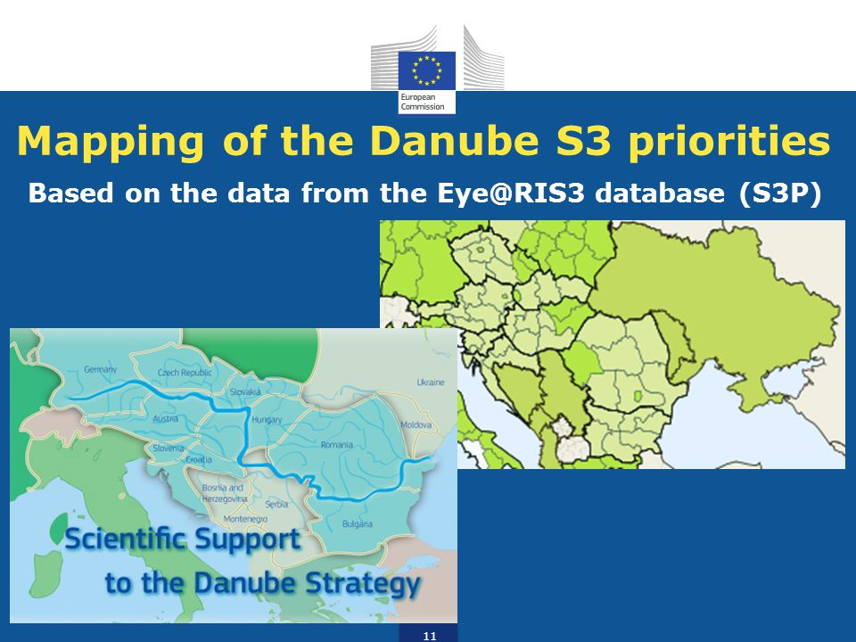 Mapping of the Danube S3 priorities Based on the data from the Eye@RIS3 database (S3P) 11