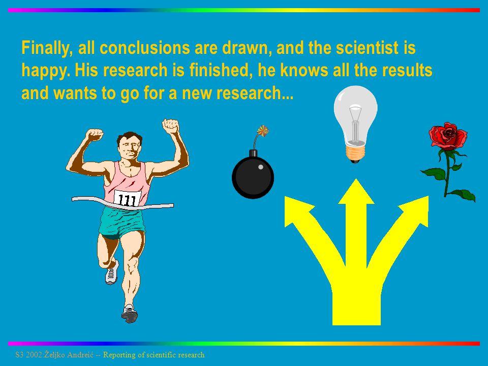 S3 2002:Željko Andreić -- Reporting of scientific research PAPER – THE ANSWER IS MODIFY IT IS OK.