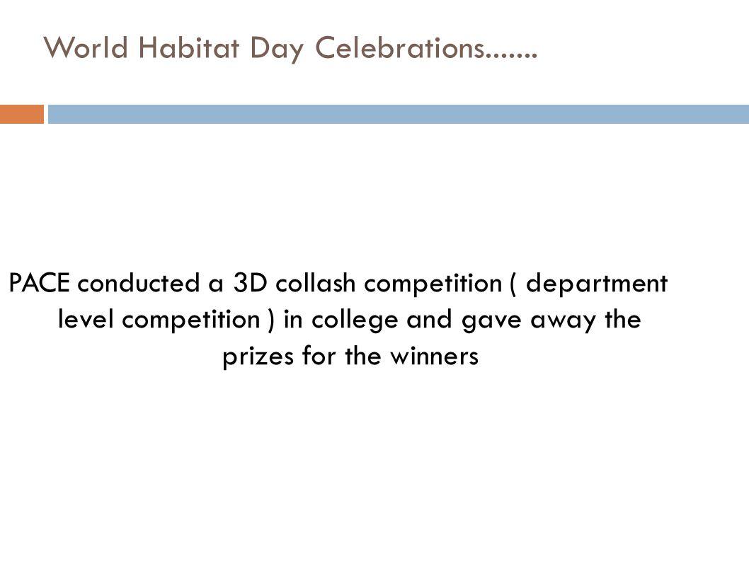 World Habitat Day Celebrations.......