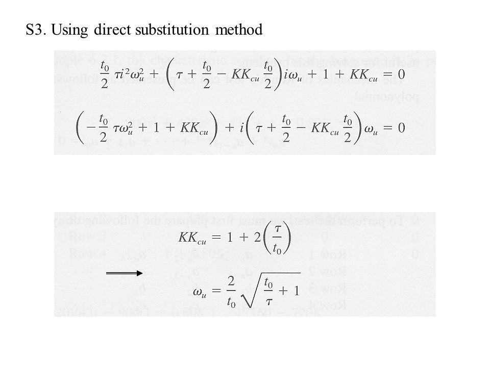 S3. Using direct substitution method