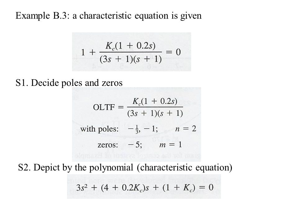Example B.3: a characteristic equation is given S1.