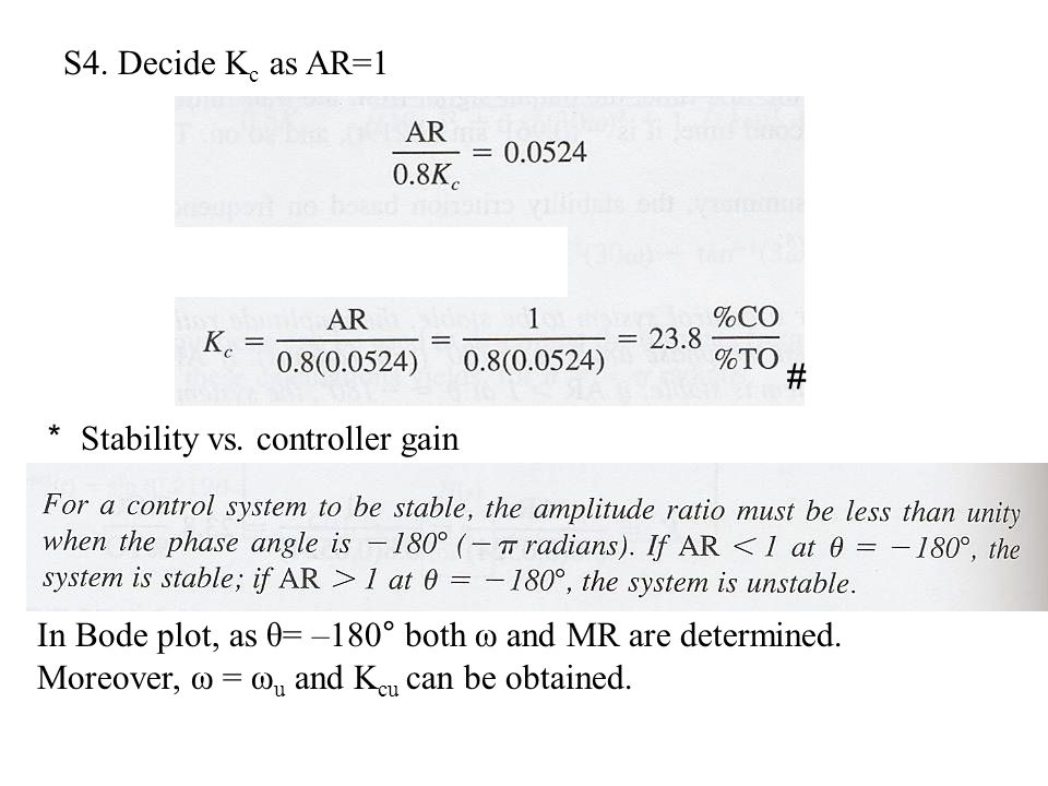S4.Decide K c as AR=1 # * Stability vs.